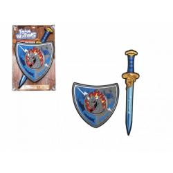 Obrázek Meč se štítem pěnový 53cm na kartě