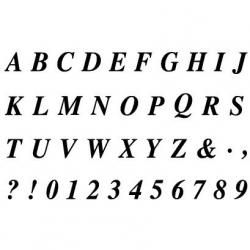 Obrázek Gelová razítka- Abeceda a čísla