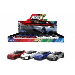 Obrázek Auto Welly Aston Martin DBS Superleggera kov/plast 12cm 4 barvy na zpětné natažení 12ks v boxu