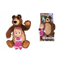 Obrázek Máša a medvěd Set Míša plyšový 43cm a panenka Máša 23cm