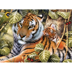 Obrázek Malování podle čísel - Tygr a mládě