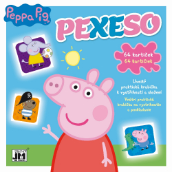 Obrázek Pexeso v sešitu Prasátko Peppa