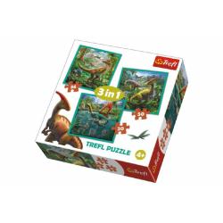 Obrázek Puzzle 3v1 Svět Dinosaurů 20x19,5cm
