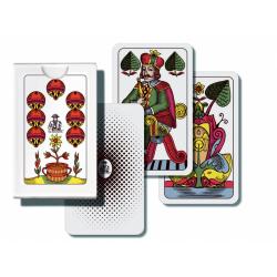Obrázek Mariáš jednohlavý společenská hra karty v papírové krabičce 7x10cm