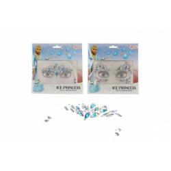 Obrázek Obličejové zdobící diamanty/kamínky Ledová princezna plast 2 druhy v sáčku 18x17,5cm