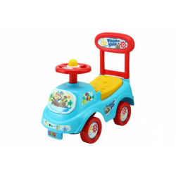 Obrázek Odrážedlo auto plast modré výška sedadla 20cm v krabici 48x23,5x22,5cm 12-35m