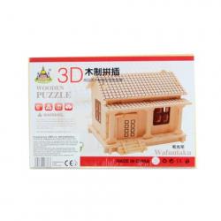Obrázek Puzzle dřevěné 3D Domek