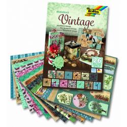 Obrázek Blok - motiv Vintage, 26 listů