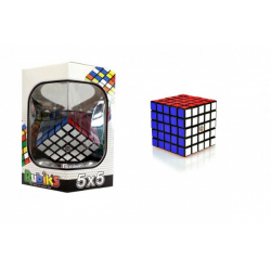 Obrázek Rubikova kostka hlavolam 5x5 plast 7x7x7cm v krabičce 16x17x16cm