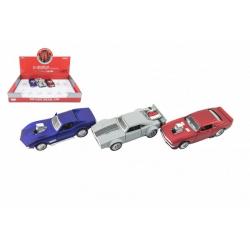 Obrázek Auto sportovní kov/plast 12cm na baterie se zvukem mix druhů na zpětné natažení 12ks v boxu