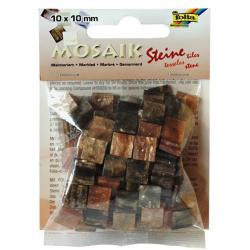 Obrázek Mozaika živicová 10x10mm- hnedý mramor