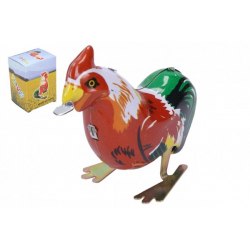 Obrázek Kohout na klíček kovový 8x8 cm v krabičce 6,5x9x5cm