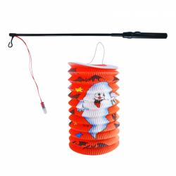 Obrázek Lampion Halloween 15 cm se svítící hůlkou 39 cm