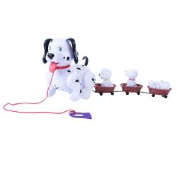 Obrázek Pes chodící se štěňaty a vodítkem se zvukem