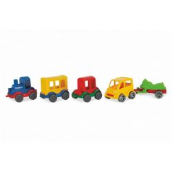 Obrázek Play Tracks - vlak s kolejemi plast 4ks autíček,délka dráhy 6,4m s doplňky v krabici 80x53x14cm 12m+