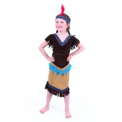 Obrázek Dětský kostým Indiánka (S)