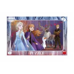 Obrázek Puzzle doskové Ľadové kráľovstvo II / Frozen II 29,5x19cm 15 dielikov