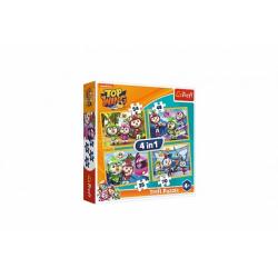 Obrázek Puzzle 4v1 Ptačí kadeti/Top Wing 28,5x20,5cm v krabici 28x28x6cm
