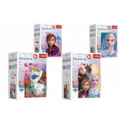 Obrázek Minipuzzle miniMaxi 20 dílků Ledové království II/Frozen II 4 druhy v krabičce 11x8x4cm 24ks v boxu