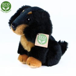Obrázek Plyšový pes jezevčík sedící 18 cm ECO-FRIENDLY
