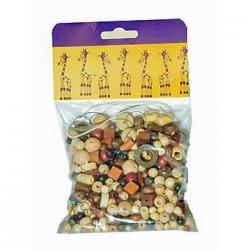 Obrázek Mix perlí 100g hnědo-přírodní