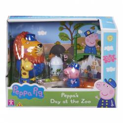 Obrázek Prasátko Peppa sada ZOO - 3 figurky a doplňky