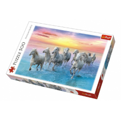 Obrázek Puzzle Cválající bílé koně 500 dílků 48x34cm