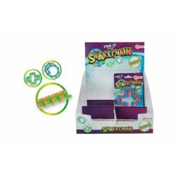 Obrázek Hlavolam had plast 3 barvy v sáčku 10x13x1cm 24ks v boxu