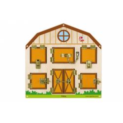 Obrázek Dřevěná hra - zamykání a odemykání