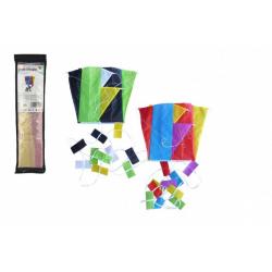Obrázek Drak létající nylon 60x45cm barevný v sáčku 10x40cm