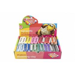 Obrázek Modelína/plastelína NARA 60g 12 barev 24ks v boxu