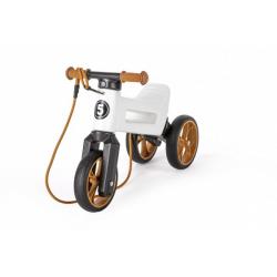 Obrázek Odrážedlo FUNNY WHEELS Rider SuperSport bílé 2v1+popruh, výš. sedla 28/30cm nos. 25kg 18m+ vsáčku