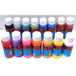 Obrázek Akrylová barva 60ml- assort 15 barev