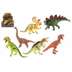 Obrázek Dinosaurus 25-32cm plast 6 druhů 6 ks v boxu