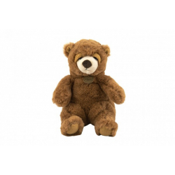 Obrázek Medvěd sedící hnědý plyš 16x24x20cm 0+