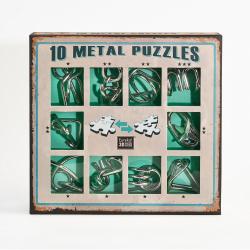 Obrázek Sada 10 hlavolamů kov zelená