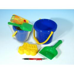 Obrázek Sada na písek - kbelík, lopatka, bábovka plast