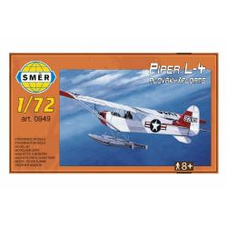 Obrázek Model Piper L-4 plováky 1:72 14,7x9,3cm