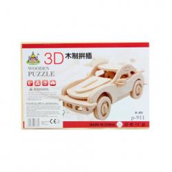 Obrázek Puzzle dřevěné 3D Auto