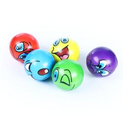 Obrázek míček pěnový obličej 6,3 cm
