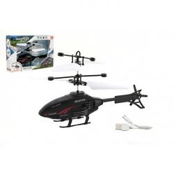 Obrázek Vrtulník na ovládání rukou použití USB plast 16cm v krabici 22x15x5cm