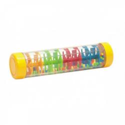 Obrázek Kuličkový déšť/chrastítko barevné plast 20cm hlavolam v krabičce 21x8,5x8,5cm 12m+