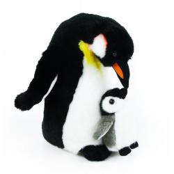 Obrázek plyšový tučňák s mládětem, 22 cm