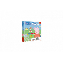 Obrázek Soubor her 2v1 Člověče, nezlob se, Hadi a žebříky Peppa Pig/Prasátko Peppa v krabici 24x24x5,5cm