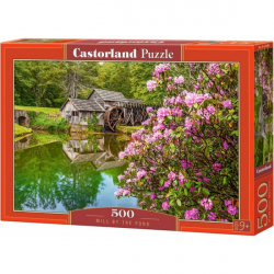 Obrázek Puzzle Castorland 500 dílků - Mlýn u rybníka