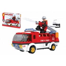 Obrázek Stavebnice Dromader auto hasiči 192 dílků v krabici 35x25x5,5cm