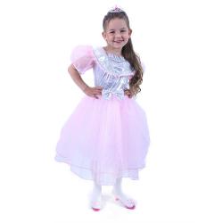 Obrázek Dětský kostým Princezna růžová s mašlí (S)