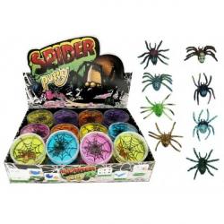 Obrázek Sliz - hmota pavouk 7cm asst 24ks v boxu