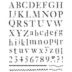 Obrázek Gelová razítka- Abeceda, čísla, bordury