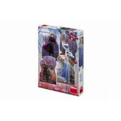 Obrázek Puzzle 4v1 Ledové království II/Frozen II 4x54 dílků v krabici 19x27,5x4cm